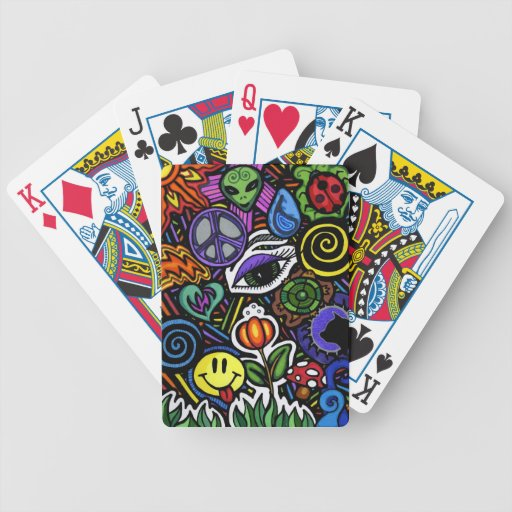 Collage of Bizarre Playing Cards