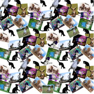 Collage of  Cat Photographs Photo Cutouts