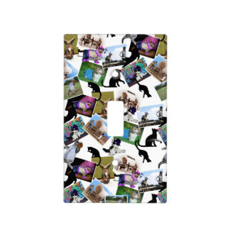 Collage of  Cat Photographs Switch Plate Covers