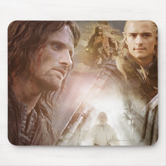 Collage of Characters Mouse Pad
