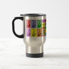Collage Of Colorful Saxophone Fibonacci Travel Mug at Zazzle