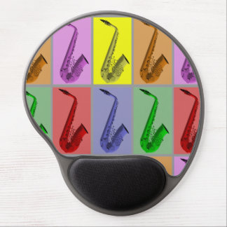 Collage of Colorful Saxophones Gel Mousepad