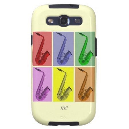 Collage Of Colorful Saxophones Samsung Galaxy S3 Samsung Galaxy S3 Cov
