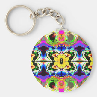 Collage of Colors Keychain