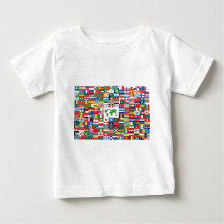 Collage of Country Flags from All Over The World Baby T-Shirt