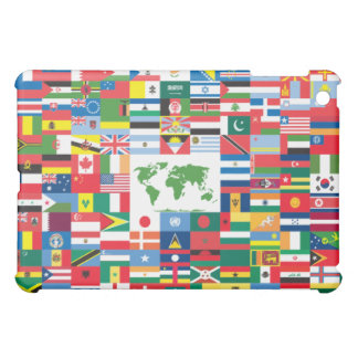 Collage of Country Flags from All Over The World Cover For The iPad Mini