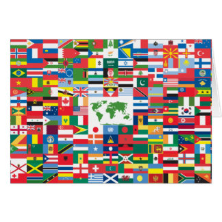 Collage of Country Flags from All Over The World Greeting Card