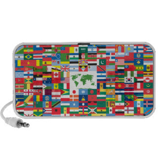 Collage of Country Flags from All Over The World Laptop Speakers