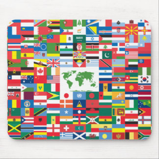 Collage of Country Flags from All Over The World Mouse Pad