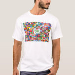"""Collage of Country Flags from All Over The World T-Shirt<br><div class=""""desc"""">Collage of Country Flags from All Over The World Image reproduction rights can be found in the link near the bottom of this description. Sign up to Mr. Rebates for FREE and save 12% on any zazzle order in addition to a $5.00 sign up bonus All Rights Reserved; without: prejudice,...</div>"""