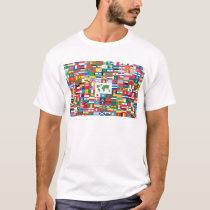 Collage of Country Flags from All Over The World T-Shirt