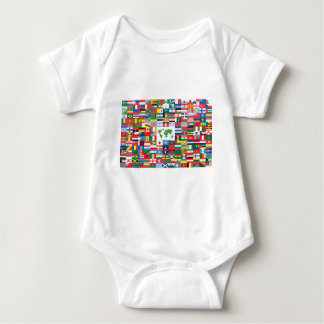 Collage of Country Flags from All Over The World T Shirts