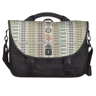 Collage of Currency Graphic Laptop Computer Bag