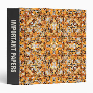Collage of Fall Colors 3 Ring Binder