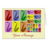 Collage of Fibonacci Saxophones Pattern Card at Zazzle