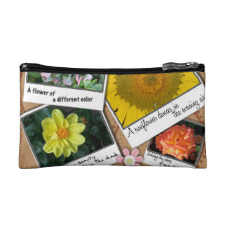 Collage of Flowers Cosmetics Bags