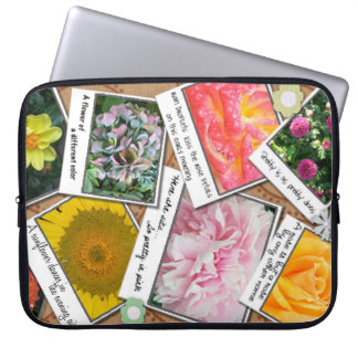 Collage of Flowers Laptop Sleeves