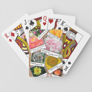 Collage of Flowers Playing Cards