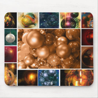 Collage of Holiday Ornaments Mouse Pad