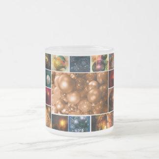 Collage of Holiday Ornaments Mug