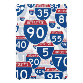 Collage of Interstate Highway Signs iPad Mini Cases