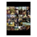 Collage of paintings of van Gogh, Vermeer, etc Greeting Card