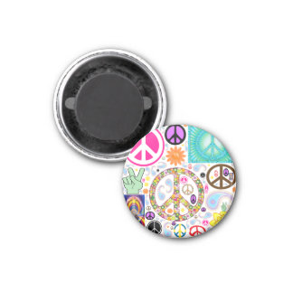 Collage of Peace 1 Inch Round Magnet