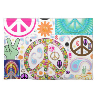 Collage of Peace Cloth Placemat