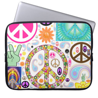 Collage of Peace Computer Sleeves
