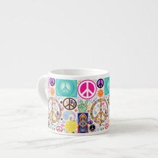 Collage of Peace Espresso Cup