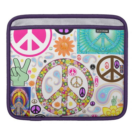 Collage of Peace iPad Sleeves