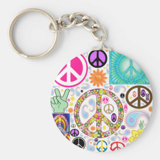 Collage of Peace Keychain
