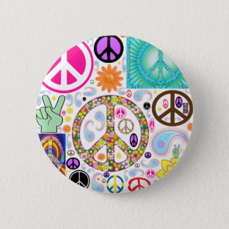 Collage of Peace Pinback Button