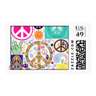 Collage of Peace Postage