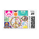 Collage of Peace Postage Stamp
