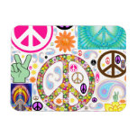 Collage of Peace Rectangle Magnet