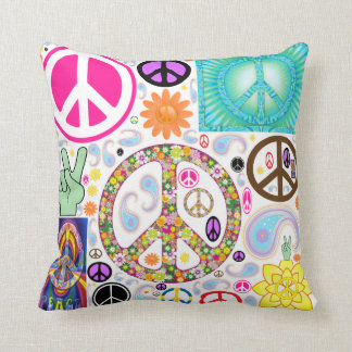 Collage of Peace Throw Pillow