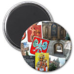 COLLAGE OF POLAND 2 INCH ROUND MAGNET