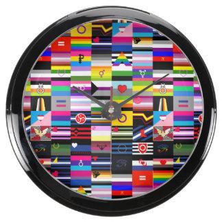 Collage of Pride Flags Aquavista Clocks