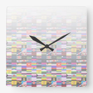 Collage of Pride Flags Square Wallclock