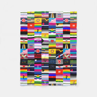Collage of Pride Flags Fleece Blanket