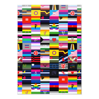 "Collage of Pride Flags 5"" X 7"" Invitation Card"