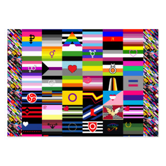 Collage of Pride Flags Large Business Cards (Pack Of 100)