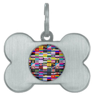Collage of Pride Flags Pet Tag