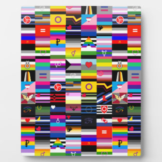 Collage of Pride Flags Photo Plaques