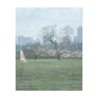 Collage of San Francisco and country side Gallery Wrapped Canvas