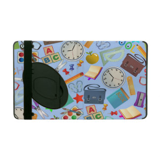 Collage of School Supplies iPad Case