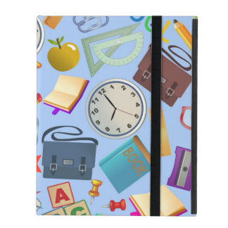 Collage of School Supplies iPad Cover