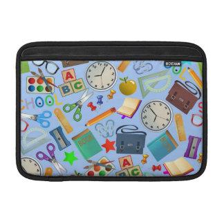 Collage of School Supplies MacBook Sleeves