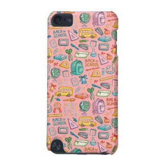 Collage of School Supplies on Pink iPod Touch (5th Generation) Case